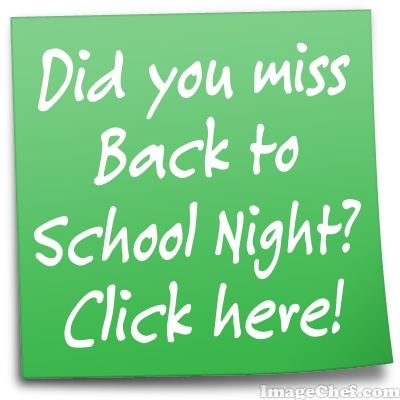 Back to School Night Stickie Note