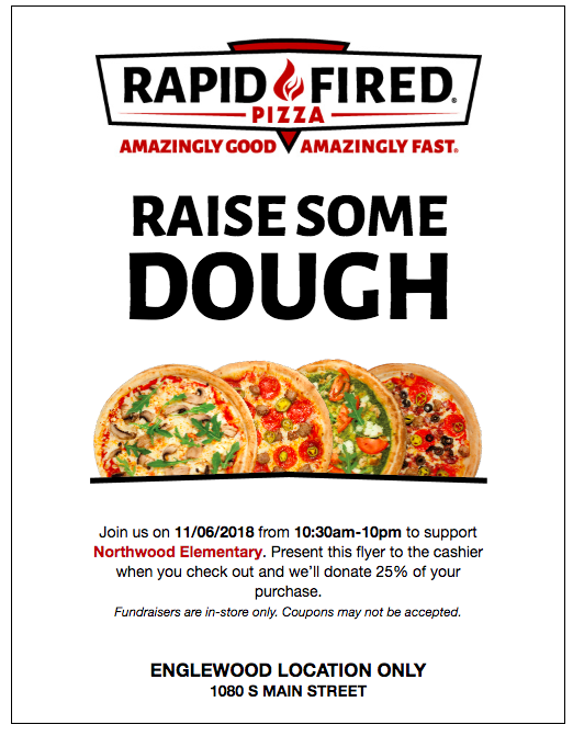 Rapid Fire Pizza Flyer