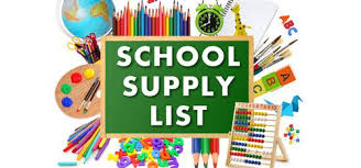School Supply List 18-19