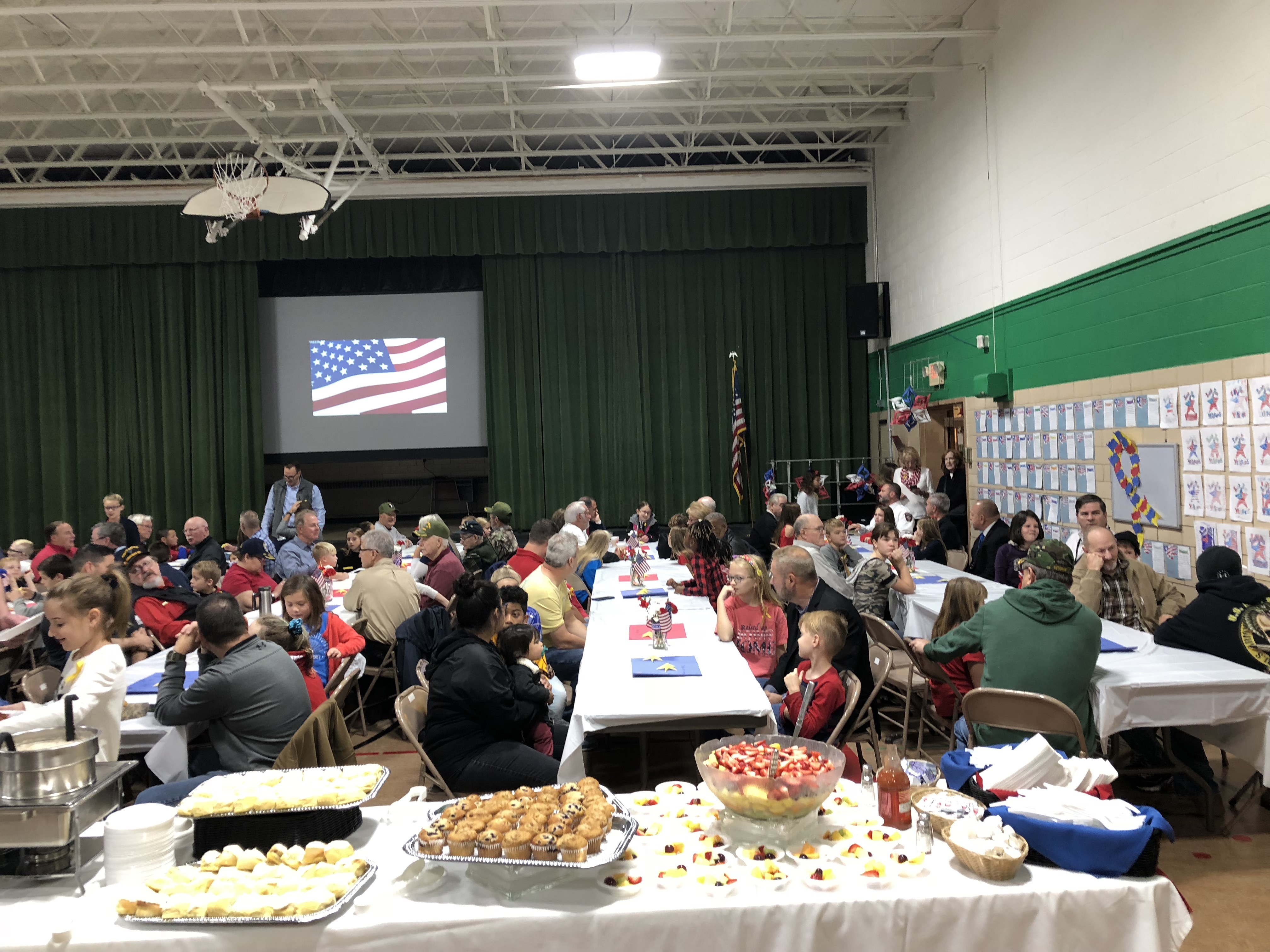 Community Breakfast for our veterans.