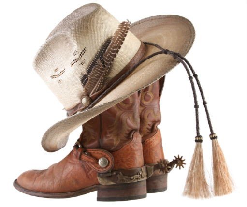 Cowboy hat and boots for the Mother Son Dance