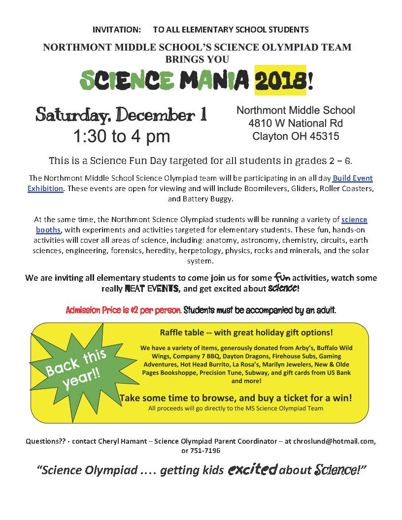 Science Mania Flyer