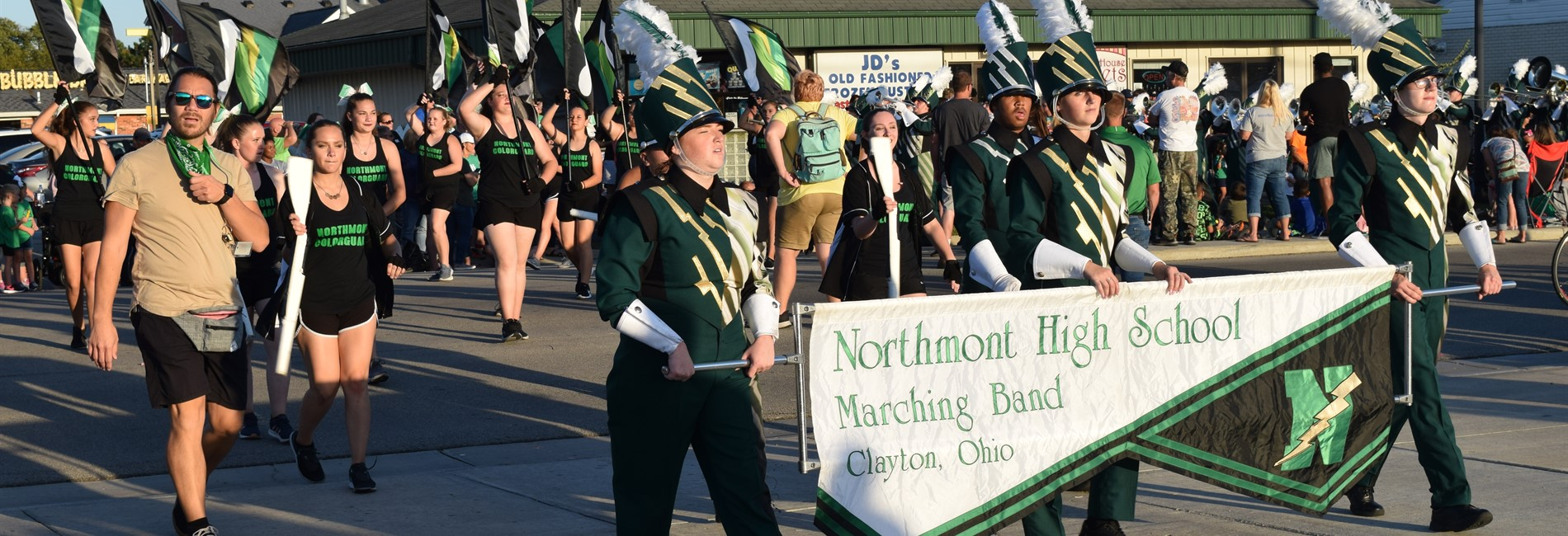 Northmont band in the Homecoming Parade